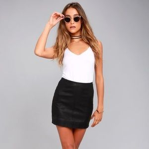 NWOT Free People Modern Femme Vegan Leather Skirt